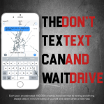 Practice ad for a Stop Texting and Driving campaign